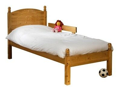 """Child's Wooden Bed Frame/First Bed 2'6"""" x 5'9"""" Plain or Teddy Headboard"""