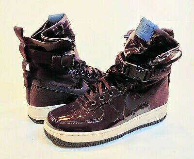 NIKE WOMEN AIR Force 1 Sf Special Edition Premium Port Wine