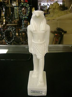 Vintage Egyptian Statue God Hours  Hand Carved  Marmar Stone 1981  Made in Egypt