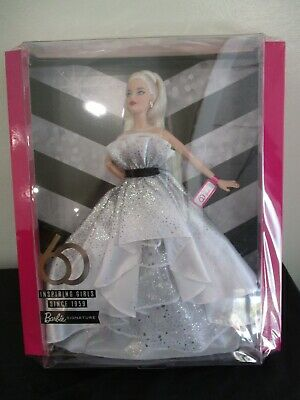 Barbie 60th Anniversary Blonde Doll Black Label with Shipper Mattel FXD88