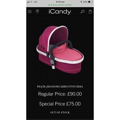 iCandy Peach 3 Blossom Lower Carrycot in Fuchsia 💗