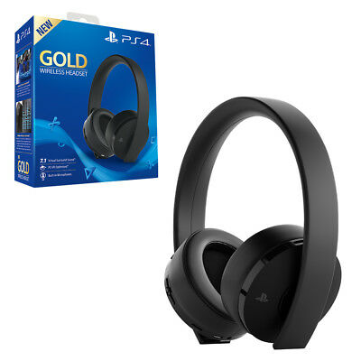 Gold Wireless Headset for PS4 NEW