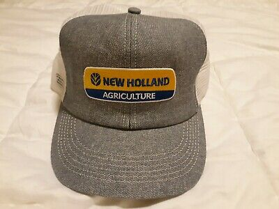 1388614421d26 New Holland Agriculture Denim And Mesh Trucker Style Snapback Hat K Products