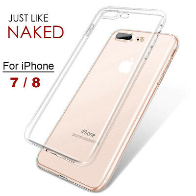 iPhone 7 / 8 Ultra Slim Protective TPU Silicone Flexible Clear Case Cover Skin