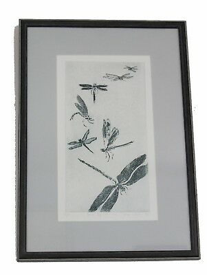 DragonFly Etching Robyn Collier 6/28 'Come Fly with Me' 1997 Australian Art Draw