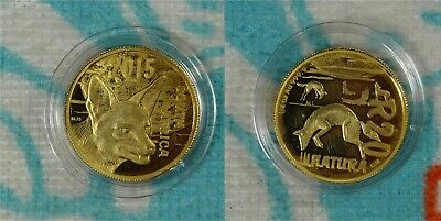 2015 South Africa Natura * Black-Backed Jackal 1/4 oz .999 Gold Coin * Ebay Bux