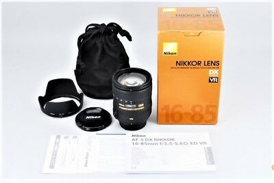【Mint in Box Almost unused】Nikon AF-S DX 16-85 3.5-5.6G ED VR  from JAPAN #289