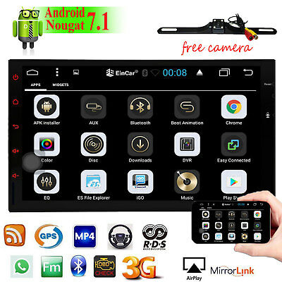 """GPS 2Din 7"""" Android 7.1 Central Auto Indash Car Stereo Radio Multimidia Player"""