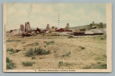 Great Mohawk Gold Mine GOLDFIELD Nevada—Antique Mining Postcard 1915