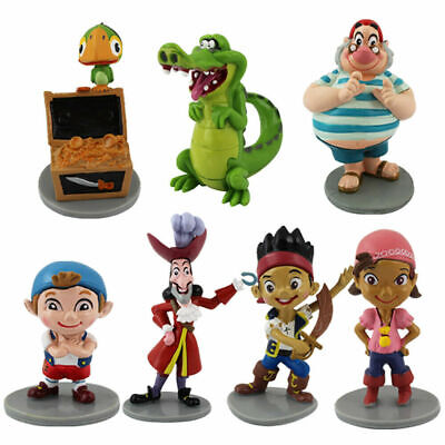 7 PCS Jack And The Neverland Pirate Action Figure Doll Cake Topper Kid Gift Toys