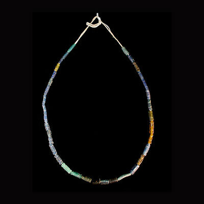 Roman coloured glass bead necklace x7422