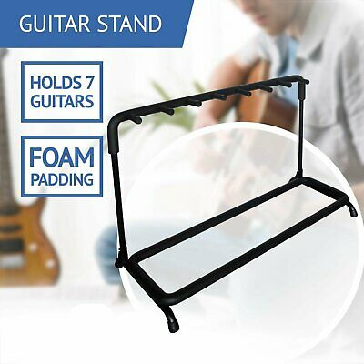 5 GUITAR STAND - MULTIPLE Five INSTRUMENT Display Rack Folding Padded Organizer*