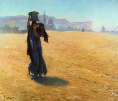 Handmade Oil Painting repro Ludwig Deutsch -The Water Carrier