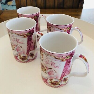 Royal Albert Old Country Roses Afternoon Tea Pink China Cups Philippa Mitchell