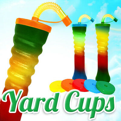 Yard Cups Slush Slushy MIX Colours 500 ml , 17,6oz. [1 Box - 155 pcs ]