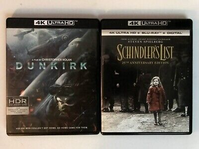 Schindler's LIst & Dunkirk 4K UHD Ultra HD Blu-Ray Free Shipping! MINT