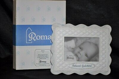 "NIB 3 1/2"" x 5"" BELOVED GODCHILD HALLMARK Picture Frame GIFT Keepsake BAPTISM"