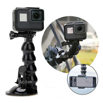 Suction Cup Window Mount 360° Swivel Arm for Gopro hero 5/6/7 Black and Mobile