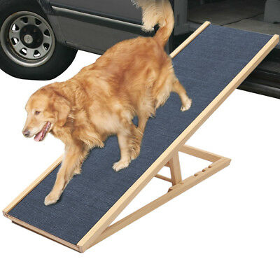 Wooden Pet Ramp Cat Dog Stair Ladder 2/3 Level Height Adjustable Travel Portable