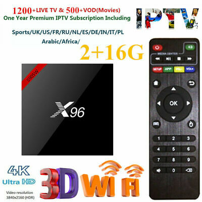 X96W TV Box TV Caja Android 7.1 2GB+16GB WiFi S905W smart Quad Core 4K Media