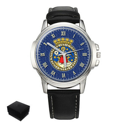 Oslo City Coat Of Arms Norway Gents Mens Wrist Watch  Gift Engraving