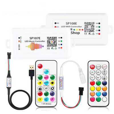 USB DC WIFI RF Music Controller for WS2812B WS2811 RGB Pixel LED Strip Lights