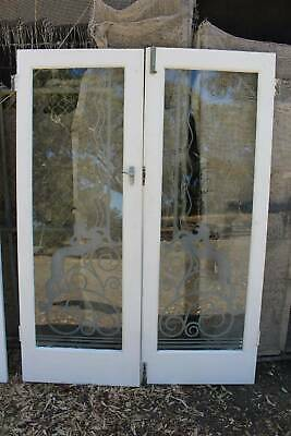 Art Deco French Doors with Etched Glass 2015mm -Matching Doors in other Listings
