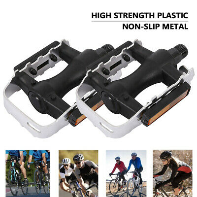 2PCS MTB Mountain Bike Pedals Flat Aluminum Alloy Platform Sealed Bearing 9/16