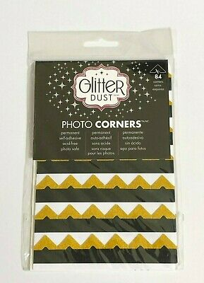 """Glitter Dust"" 84 Self Adhesive Photo Corners"