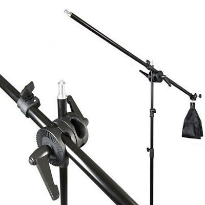 Photography Studio Light Stand Telescopic Boom Arm 75-135cm + Sandbag Grip Kit