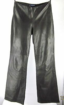 66712fc8ad5aa Sexy Ann Taylor Brown Leather Pants Flat Front Lined Size 2 (27x30) Buttery  Soft