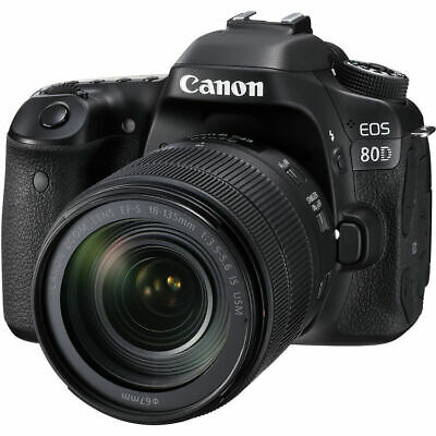 Brand New Canon EOS 80D DSLR Camera with Enhanced AF with 18-135mm Lens