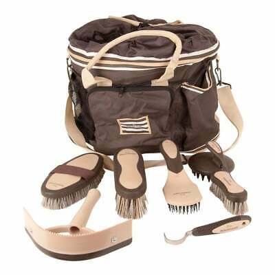 Horseware Rambo Newmarket Horse Grooming Kit / Set - Whitney Stripe Chocolate