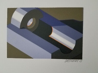 Robert Cottingham, Component XVII,  relief print, pencil signed