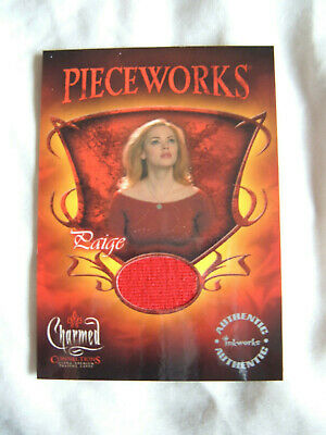 Charmed Connections Rose McGowan PWC9 Pieceworks Costume Card as Paige