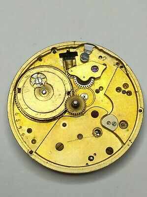 Small High Grade Wolfs Teeth Cylinder Pocket Watch movement