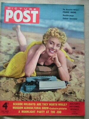 Picture Post / 9 June 1955 / The Beautiful Writer - France Roche