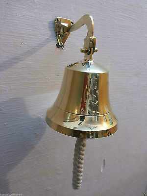 Antique Nautical Brass Ships Bell 6 inch 15-2 cm with Mounting Vintage Decor
