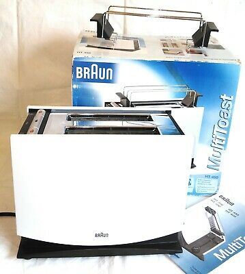 Great new boxed Braun HT 450 iconic modernist German multitoast toaster