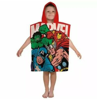 "Official Marvel Comics ""Strike"" Character Hooded Towel Poncho NEW"