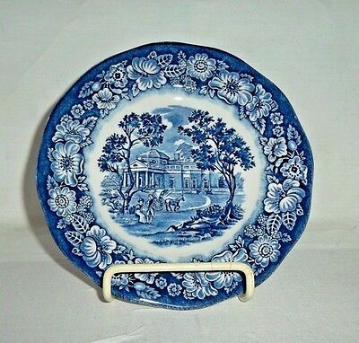 Staffordshire Liberty Blue Bread & Butter Plate-Monticello