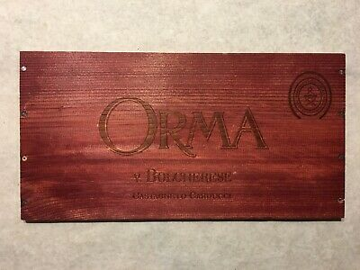 1 Rare Wine Wood Panel Orma Bolgherese Vintage Red CRATE BOX SIDE 4/19 557
