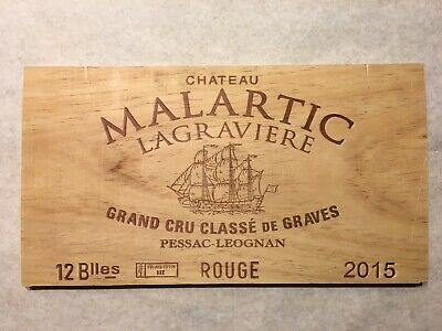 1 Rare Wine Wood Panel Chateau Malartic Vintage Red CRATE BOX SIDE 4/19 556