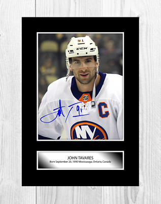 John Tavares NHL Toronto Maple Leafs A4 signed poster. Choice of frame.