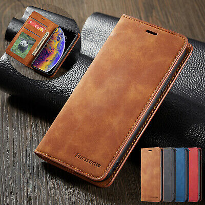 For iPhone 11 Pro 6s Plus 7 8 XR Luxury Flip Wallet Magnetic Leather Case Cover