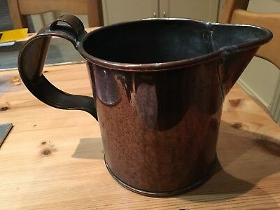 Antique copper flagon jug quality metalware pouring half gallon jug