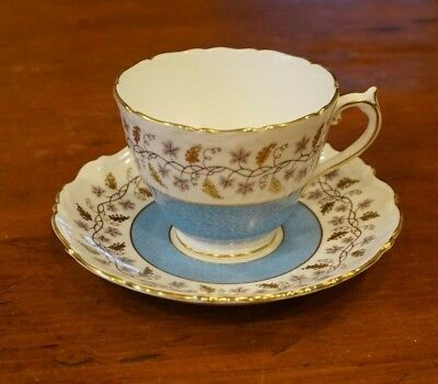 Coalport England Bone China Teacup & Saucer Minerva