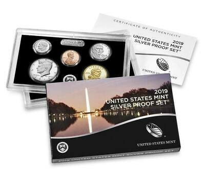 2019 US Mint 99.9 Silver Proof Set 10 COIN SET 19RH FIRST YEAR WITH 99.9 SILVER