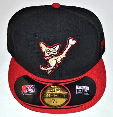 a45dfc5c001a8 El Paso Chihuahuas Hat Cap NEW ERA 59Fifty Black MLB Fitted 7 1 8 New
