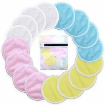 Reusable Make up Remover Pads 20 Packs Organic Bamboo Cotton Pads Round Shape UK